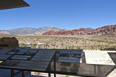 Red Rock Canyon visitor center information NV. — Stock Photo