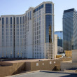 Las Vegas Casino architecture and rooftops. - Stock Photo