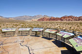 Red Rock Canyon visitor center observations Nevada. — Stock Photo