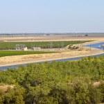 California aquaduct and farmlands. — Stock Photo #29074667