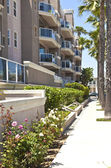 Long Beach condominiums in southern california. — Stock Photo