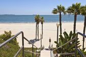 Long Beach california ocean view. — Stock Photo
