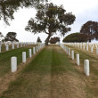 Tombstones in a cemetery Point Loma california. — Stock Photo #29376309