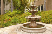 Smal backyard garden fountain San Diego California. — Stock Photo