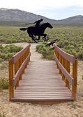 Legendární pony express minulosti. — Stock fotografie