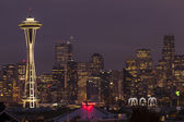 Seattle skyline at night. — Stock Photo