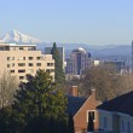 Portland Oregon downtown skyline panorama. — Stock Photo