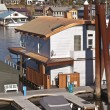 Stock Photo: Floating houses in Portland Oregon.