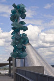 Glass sculpture in Tacoma Washington. — Stock Photo
