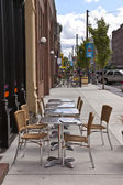 Outdoor seating Tacoma Washington. — Stock Photo
