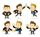Elegante serie - hombre de negocios, cooperación conjunto — Foto de Stock