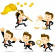 Royalty-Free Stock Vector Image: Businessman set