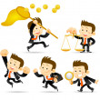 Royalty-Free Stock Imagen vectorial: Businessman set