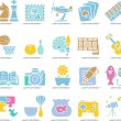Hobby, Leisure and Holiday Icons — Stock Vector #40868683