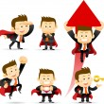 Super Businessman set — Stock Vector #40866257