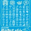 Doodle music icon set — Vector de stock  #40866361