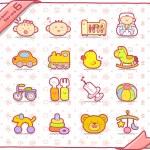 icône de bébé — Vecteur