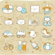 Baby icon set — Vector de stock