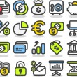 Finance,bank,busine ss icon set — Stock Vector
