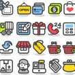 Shopping,Internet, Business icons Set — Stock Vector
