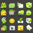 Eco,business,shopping,travel icon set — Stock Vector
