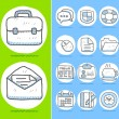 Business,office icon set — ストックベクタ