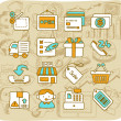 Shopping,business ,office,internet icon set — Stock Vector #40866997