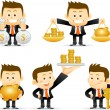 Businessman set — Stock Vector