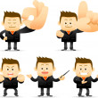 Businessman showing ok, — Stock Vector #40867171