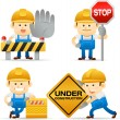 Builder set — Stock Vector