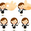 Businesswoman set — Stock Vector