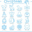 Hand drawn Christmas icons — Stock Vector #40867725