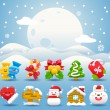 Christmas icon & background collection — Stock Vector #40867765
