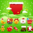 Xmas icon & background collection — Stock Vector