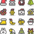 Christmas icons — Stock Vector #40867805