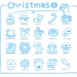 Christmas icons — Stock Vector #40867825