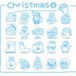 Hand drawn Christmas icons — Stock Vector #40867851