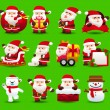 Santclause icon set — Stock Vector #40867861