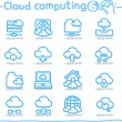 Cloud computing — Stock Vector #40867909