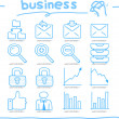 Hand drawn internet,business icon set — Stock Vector #40867929