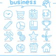Hand drawn internet,business icon set — Stock Vector #40867933