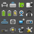 Computer Gadgets icon set — Stock Vector