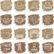 Stock Vector: Wild west ,cowboys icon set
