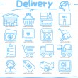 Stock Vector: Hand drawn Delivery,Shopping icon set