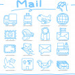 Stock Vector: Hand drawn Mail,Delivery icon set