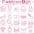 Hand drawn Beauty and fashion icons collection — Stock Vector #40868175