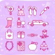 Beauty accessory icon set — Stock Vector #40868205