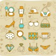 Fashion,beauty accessory icon set — Stock Vector #40868213