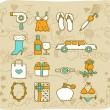 Fashion,beauty accessory icon set — Stock Vector #40868223