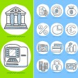 Business,banking,finance icon set — Stock Vector